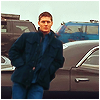 tanaqui: Dean Winchester leaning against Impala close up (dean impala close)
