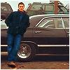 tanaqui: Dean Winchester leaning against Impala full length (dean impala full)