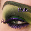 muccamukk: An eye painted purple and green. Text: Hulk. (Avengers: Lady Hulk)