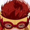 dancesontrains: Wally West dressed in his Kid Flash uniform (wally's hair)