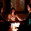 allchildren: bonnie, caroline, and elena hold a seance (ⱴ found girls)