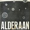 sporky_rat: Antique travel poster for Star Wars planets. Text: ALDERAAN (Alderaan)
