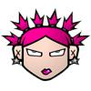 cabell: pink cartoon head (cartoons, pink cartoon me)