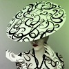 delphinapterus: B&W swirls with hat hiding face (Hat - swirls)