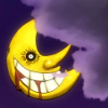 rhythmbandit: The Moon from SE has a bloody grin (Soul Eater * Mr. Moon)