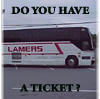 "krinndnz: A bus with the name ""LAMERS"" on the side with caption ""Do you have a ticket?"" (The Lame Bus)"
