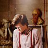 st_aurafina: Eleventh Doctor, with an Ood mask and an weeping angel (DW: Eleven and company)