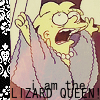 mad: I AM THE LIZARD QUEEN! (Batman talks with his mouth full)