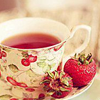 serpentine: strawberry tea in a cute tea cup (Food - Strawberry Tea)