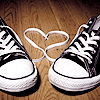 pipisafoat: converse shoes with the laces making a heart between them (Default)
