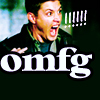 "flourish: Dean from Supernatural screaming, with the caption ""OMFG!"" (SPN omg)"