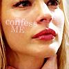 """trascendenza: cara's face: """"confess me."""" (lots cara: confess me.)"""