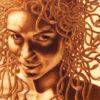 wealhtheow: sepia close-up of Medusa (HatefulSuperheroOutfits)