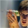 pocketmouse: The Doctor listening to the crack in the wall (eleven)