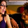 gloss: woman & man grinning (Dub-Dub & Noser: beam)
