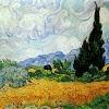korafox: wheat field with cypresses (Default)
