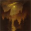 asenathwaite: painting of the moon over wilderness (cfriedrich)