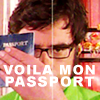 "goodbyebird: Flight of the Conchords: Jemaine holding up a passport, ""Voila mon passport."" (FotC Voila mon passport!)"