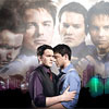 beccaelizabeth: Ianto Jones and Jack Harkness, holding each other; blend three different publicity stills from before Children of Earth (Ianto forever)
