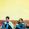 goodbyebird: Community: Abed and Troy sit on the couch, reading. (Community dónde está la biblioteca?)