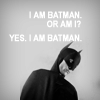 "goodbyebird: Community: Abed dressed as Batman: ""I am Batman. Or am I? Yes. I am Batman."" (Community if I stay there can be no part)"