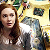 sapote: Amy Pond looking upward in TARDIS ()