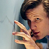 sapote: The Eleventh Doctor tracing the crack in Amy Pond's wall ()