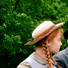 st_aurafina: Tiny Anne, with her straw hat, in profile (Anne of Green Gables: Wee Anne with an ')