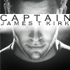 fish_echo: A photo of Captain Kirk (of Star Trek Reboot) looking intense. Text across the eyes says 'Captain James T Kirk' (Fandom-Reboot-Intense Capt Kirk)