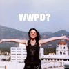 "shinyjenni: Sophie on a rooftop; text reads ""wwpd?"" (what would parker do?)"