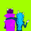 greatlightborrower: Vriska with her arm around Eridan (Vriska/Eridan)