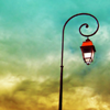 dalegardener: Lantern-style streetlight against pale sky (Default)