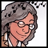 alee_grrl: A color illustration of me listening to music and smiling. (music)
