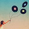 agalinis: Records strung up like balloons (Record balloons)