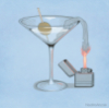 aunthippie: cartoon martini with fuse and lighter (molotov)