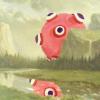 biichan: Landscape with pink katamari (misc: pink katamari)