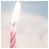 susanreads: candy-striped candle (candle, birthday)