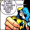 "deliandra: Milagro playing with action figures: ""I guess Ted will have to marry Booster Gold then."" (Boostle marriage)"