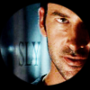 jesse_the_k: John's sneaky face seen through a keyhole (sga Shep is sly)