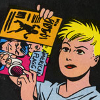 rhythmbandit: some punky girl reading a comic book (L&R * Hopey reading comics)