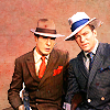 red_eft: Spock and kirk in 20's style hats and suits (Spocko!)