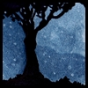 alee_grrl: The poet's tree against a night sky (illustration for poetree @ dw community by djinni @ lj) (poet's tree at night)