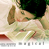 "winkingstar: Catherine (Northanger Abbey) reading a book, with text ""magical."" ([JA] magical)"