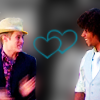 allyndra: Chad Danforth and Ryan Evans looking at each other, with hearts between them. (Chad/Ryan hearts)