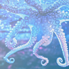 haleskarth: A purple octopus, with its tentacles suspended in the water. (Suspended.)