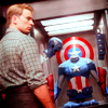 shanaqui: Steve Rogers from the Avengers, looking at the Captain America outfit. ((Steve) Suit up)