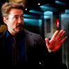 shanaqui: Tony Stark from the Avengers, talking, hand up. ((Tony) No hard feelings k?)