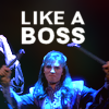 muccamukk: Delenn breaking the staff of the grey council. Text: Like a Boss (B5: Like a Boss)