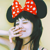 amihan: model wearing a minnie mouse headband ([fashion] mouse ears)