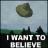badficwriter: Flying saucer-I WANT TO BELIEVE (Hal Jordan/Ollie yelling)